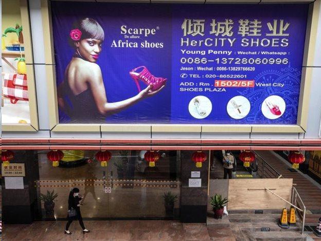 Daerah yang dikenal sebagai 'Afrika kecil' di Guangzhou karena menjadi pusat populasi warga Afrika di kota tersebut.