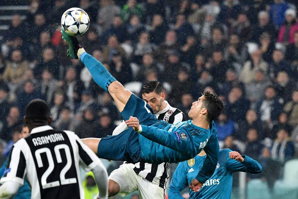 Gol de chilena de Cristiano Ronaldo frente a la Juventus en la pasada edición de la Champions League.