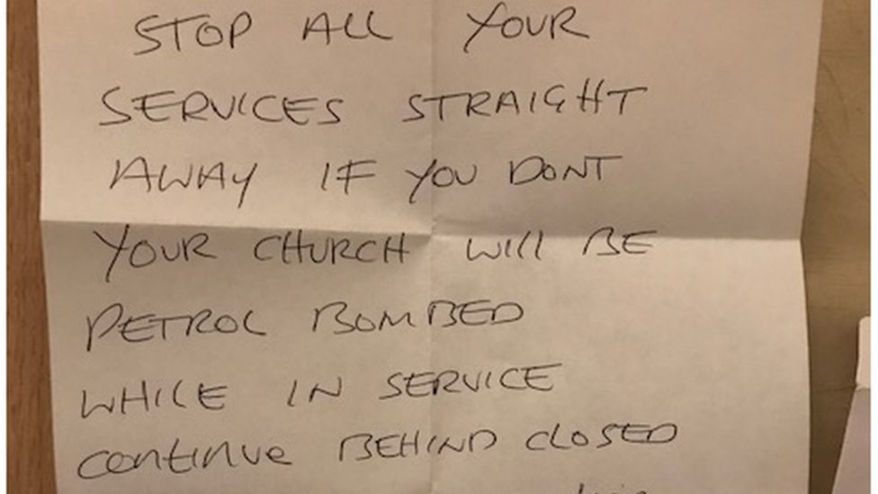 Churches sent 'petrol bomb' threat