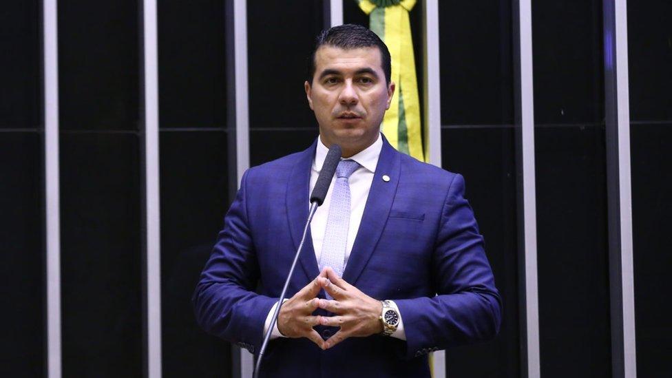 O deputado Luis Carlos Miranda na Câmara dos Deputados