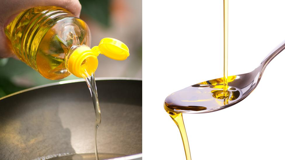 Oil being poured
