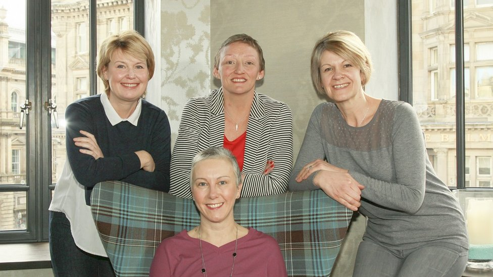 From the top row L-R: Lesley Stephen, Lesley Graham and Anne Maclean-Chang. Bottom row: Alison Tait
