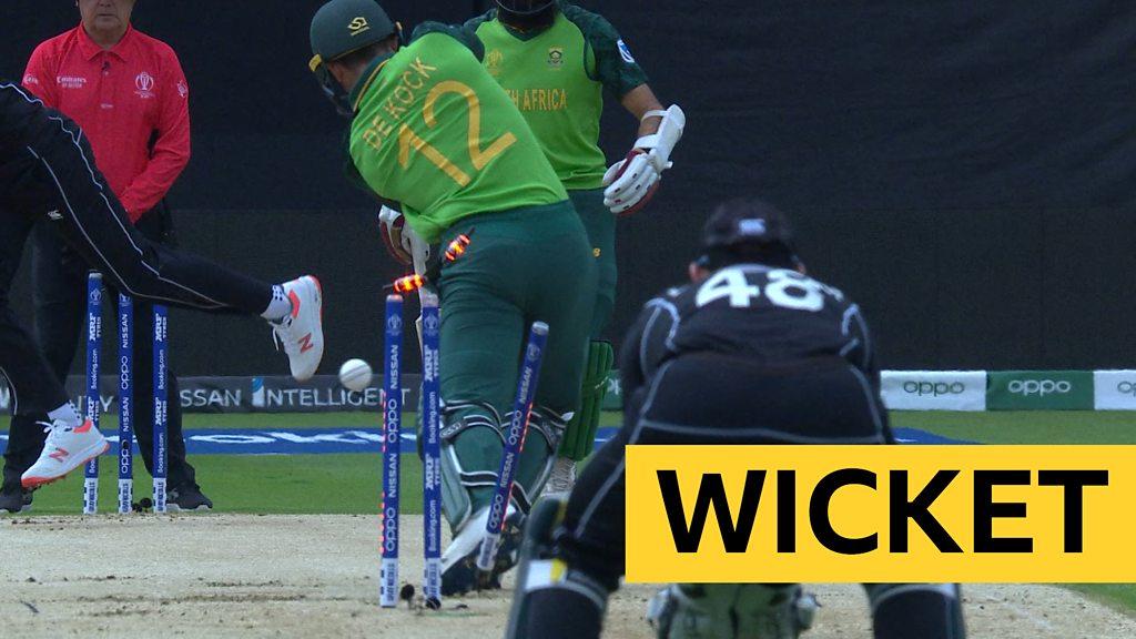 Cricket World Cup: Trent Boult bowls Quinton de Kock