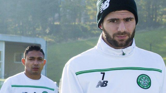 Deila on Celtic ground training spat