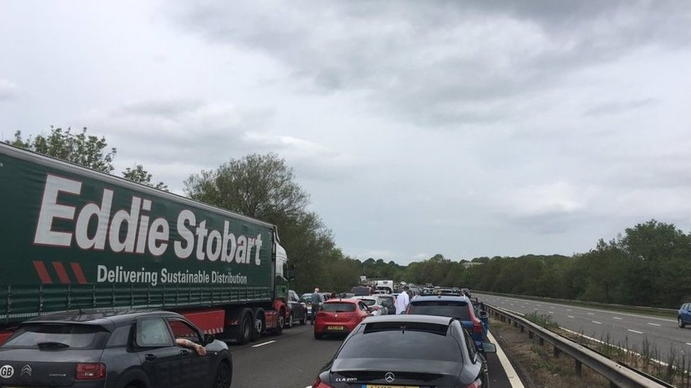 M6 crash: Delays between Stoke-on-Trent and Crewe