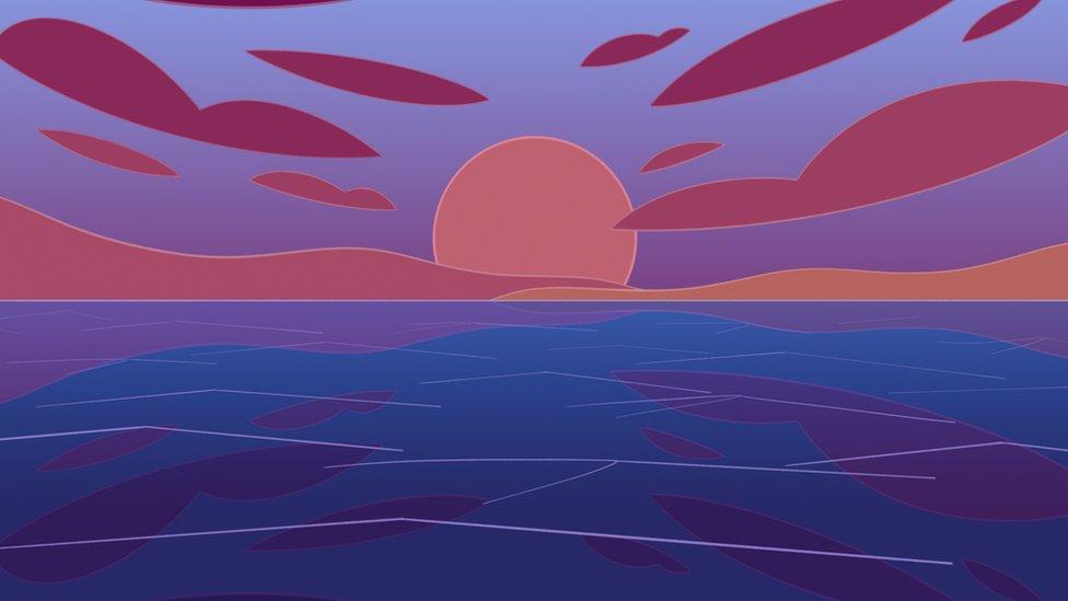 Ilustración del mar.