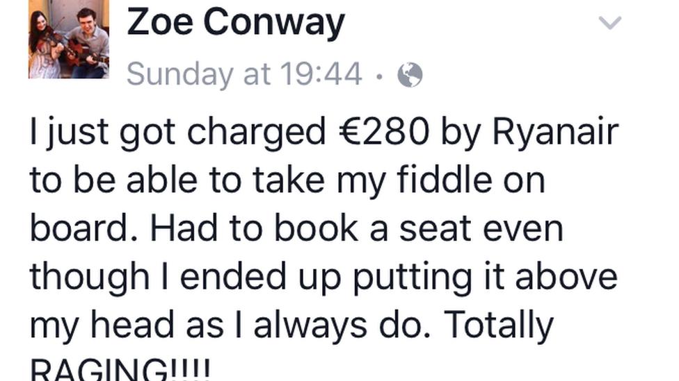 Zoe Conway Facebook post