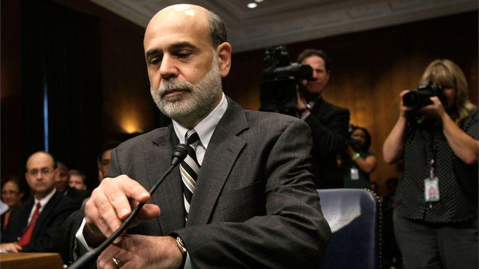 Ben Bernanke, presidente de la Fed en 2008.