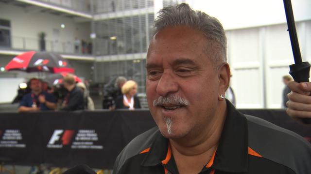 Force India's Vijay Mallya