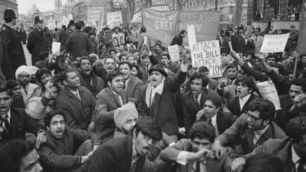 احتجاجات في بريطانيا ضد قانون الهجرة لسنة 1971