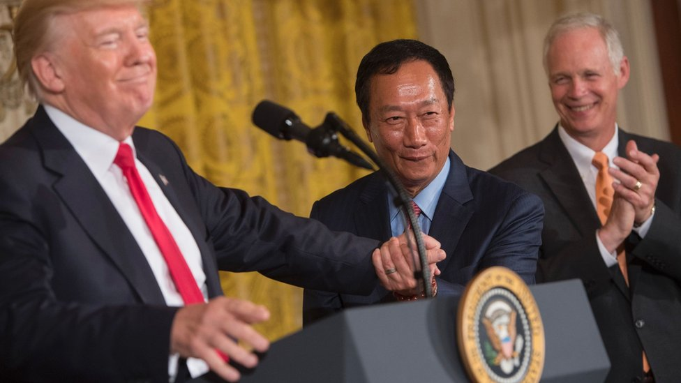 Trump takes credit for Foxconn's 'incredible investment'