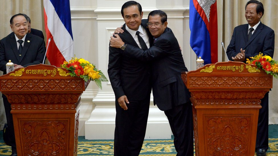 Prayut Chan-ocha, Hun Sen