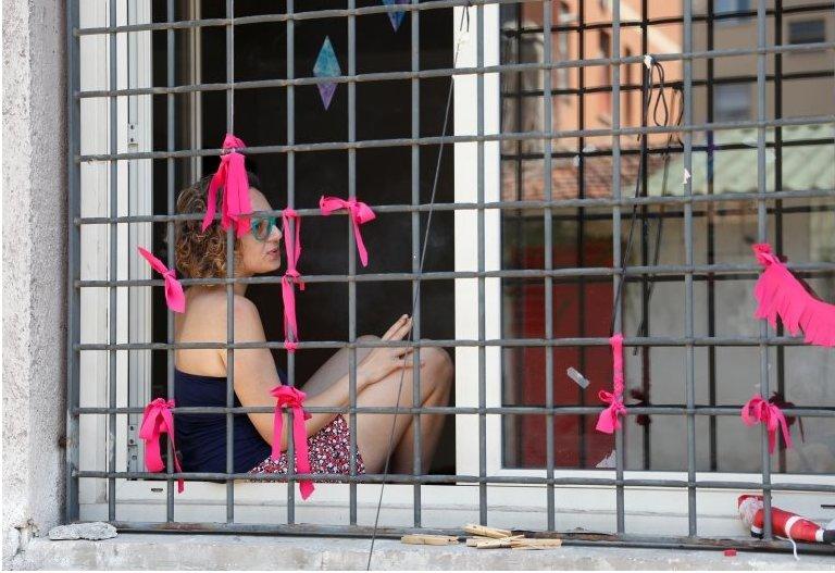 Roma'da ev içi şiddet gören kadınlara destek olan aktivist Egilda Orrico