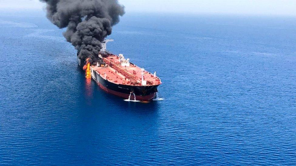 ناقلة نفط تعرضت لهجوم في خليج عمان