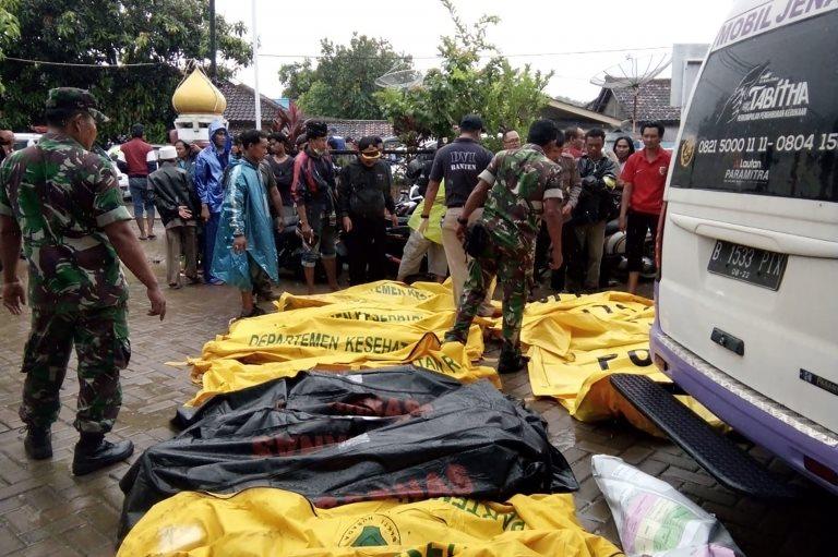 Fallecidos tras el tsunami