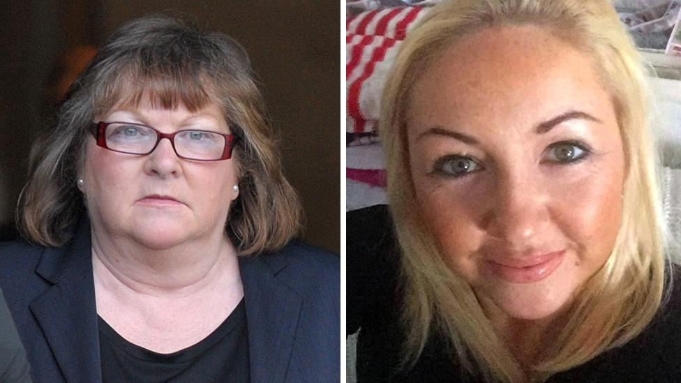 Irene Forrester (left) and Linda Ann Forrester