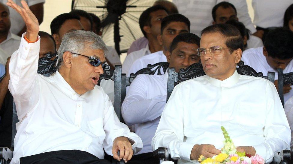 Presiden dan PM Sri Lanka