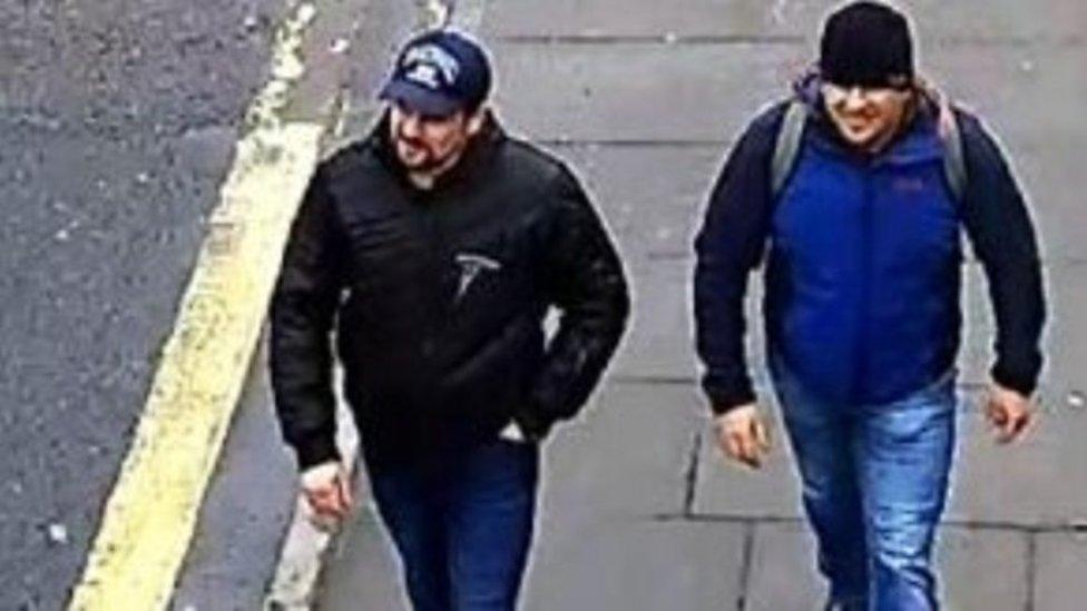 Los sospechosos de ejecutar el ataque contra Sergei Skripal y su hija Yulia.