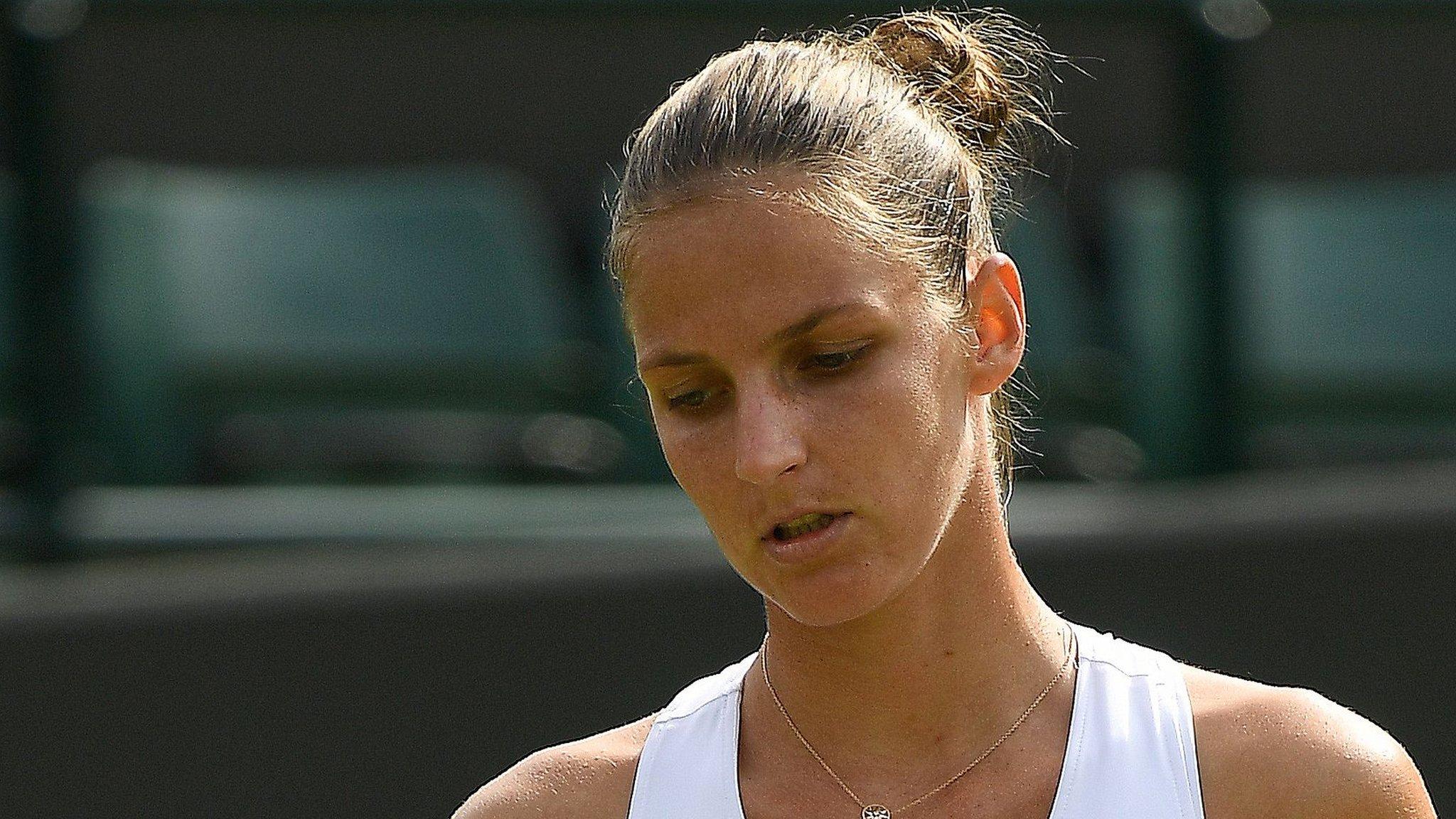 Birmingham Classic: Karolina Pliskova beaten by Magdalena Rybarikova in first round