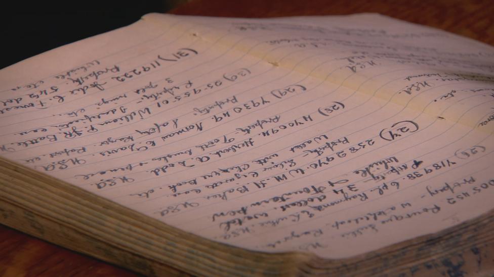 La libreta del sargento MacNeill con los detalles de cada uno de los muertos.