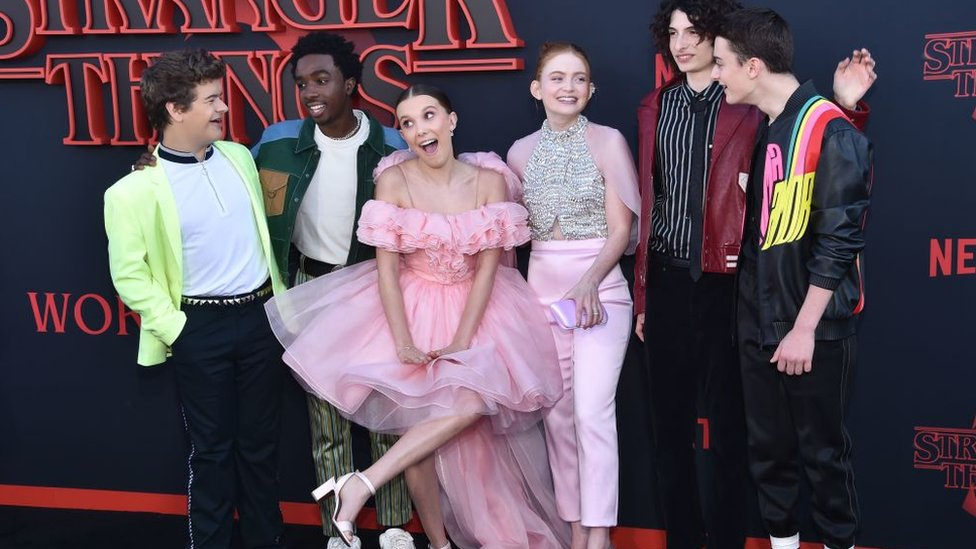 The Stranger Things 3 cast at the show's premiere