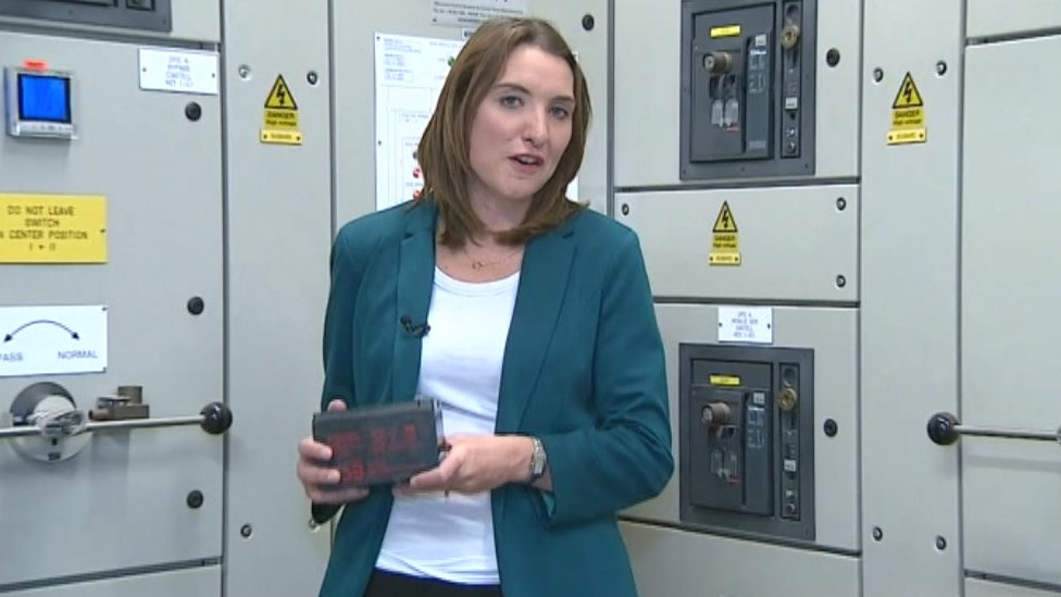 BBC Look East health correspondent with the battery which failed