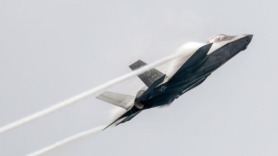 A Lockheed-Martin F-35 jet aircraft