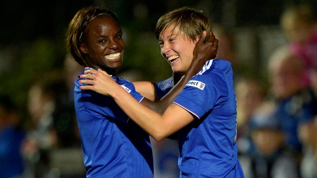 Chelsea's Eni Aluko and Fran Kirby