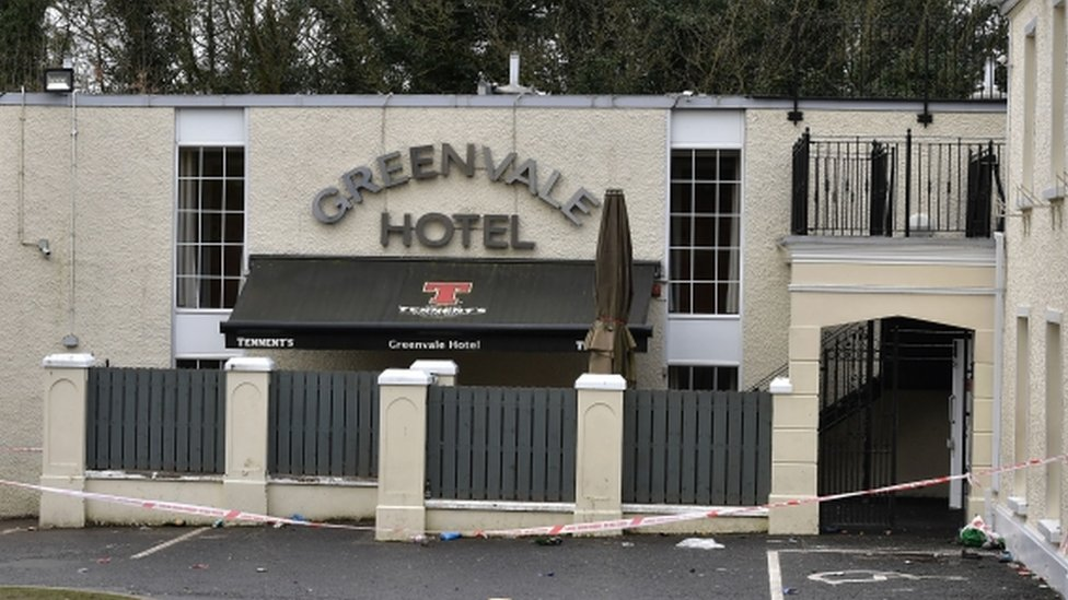 Scene at Greenvale Hotel, Cookstown, Monday 18 March 2019