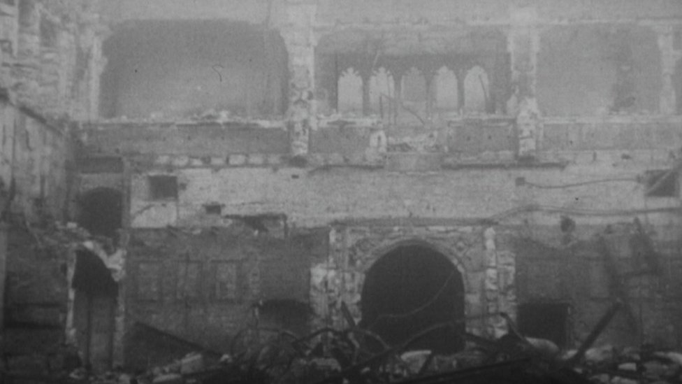 The Commons was destroyed in the Blitz in May 1941