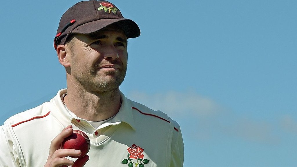 County Championship: James Anderson takes five for Lancs but Pears rally