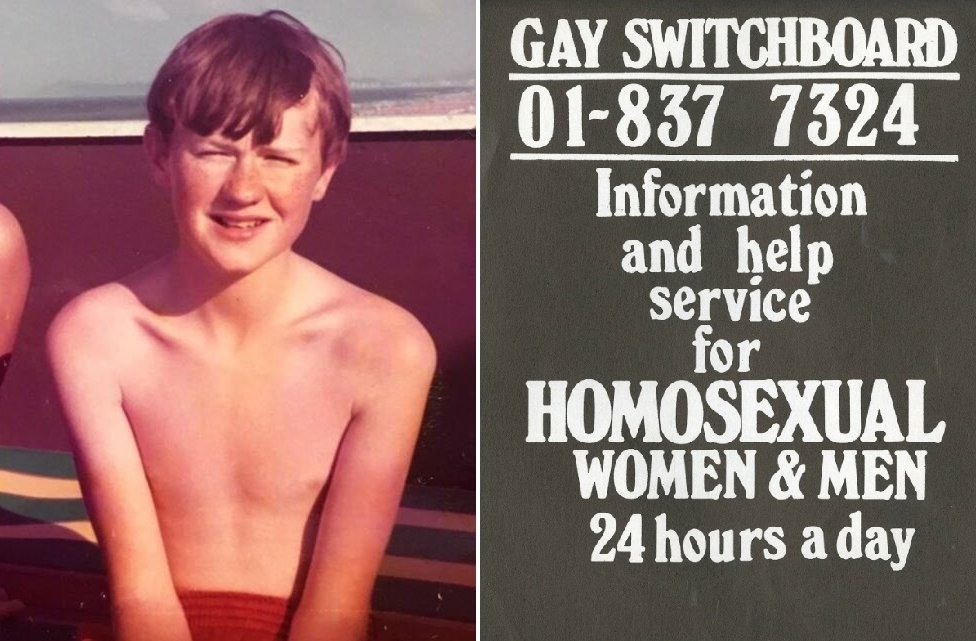 Mark Gatiss as a boy/Switchboard poster