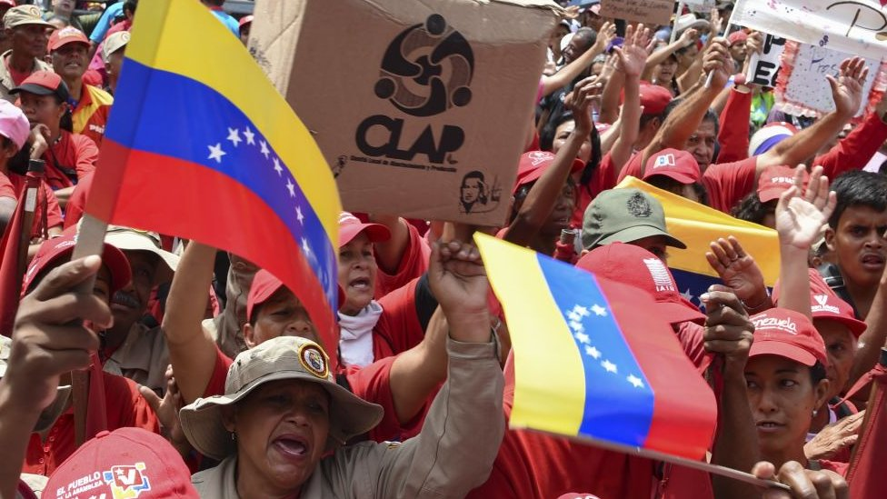 Venezolanos chavistas