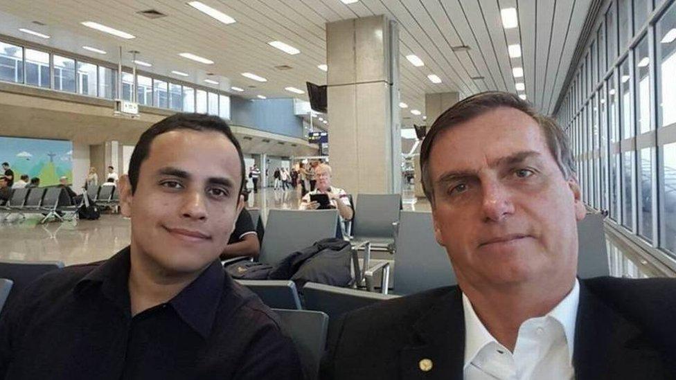 Tercio Arnaud Tomaz e o presidente Jair Bolsonaro