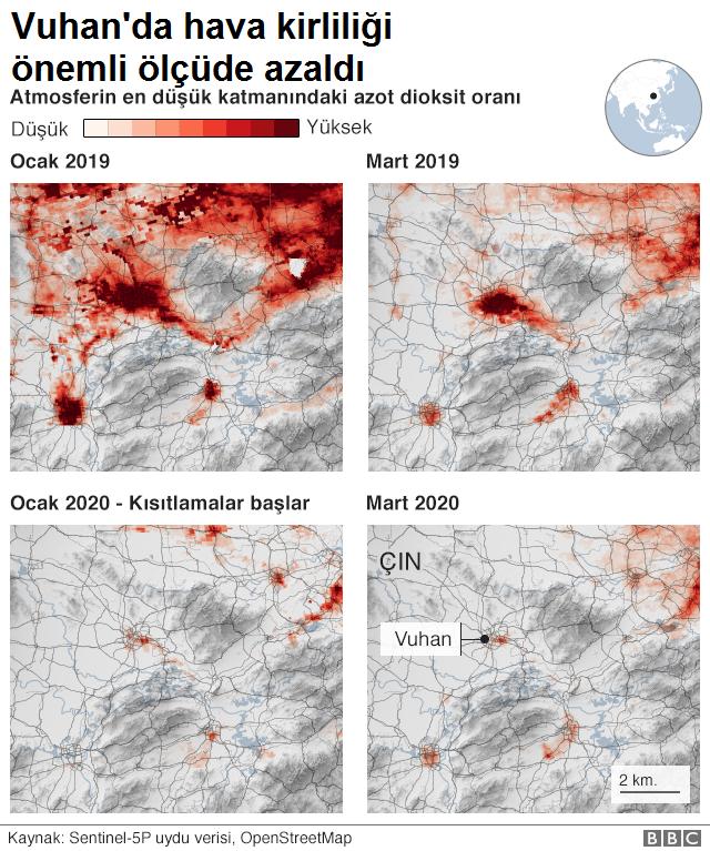 Vuhan'da hava kirliliği önemli ölçüde azaldı