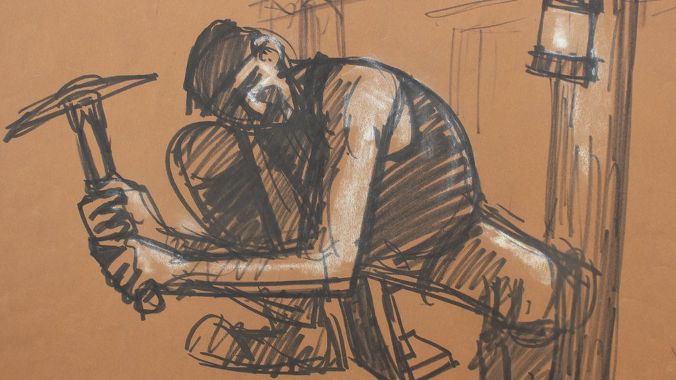 Norman Cornish sketch