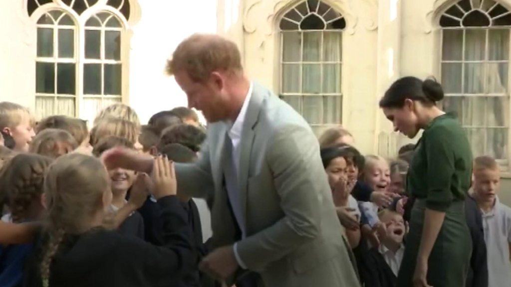 Harry and Meghan meet crowds on royal Sussex visit