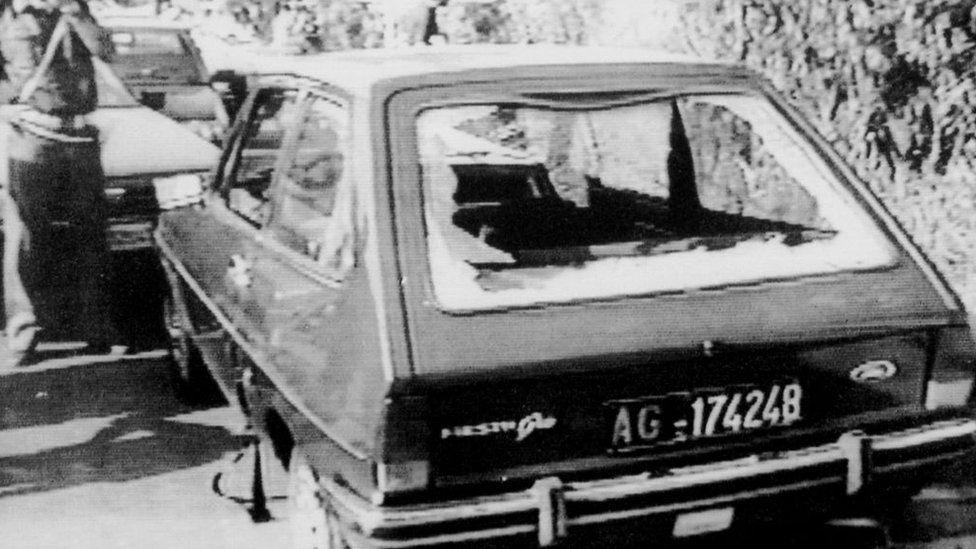 السيارة التي قُتل فيها روساريو ليفاتينو
