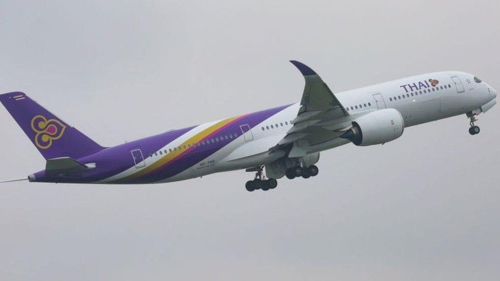 طائرة تابعة لشركة الطيران التايلاندية