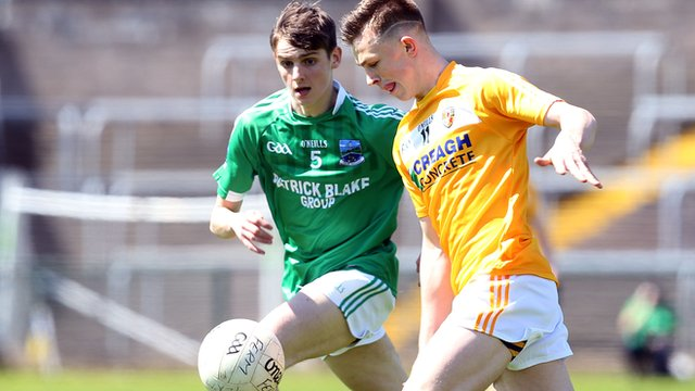 Action from Antrim's victory over Fermanagh in the Ulster minor championship