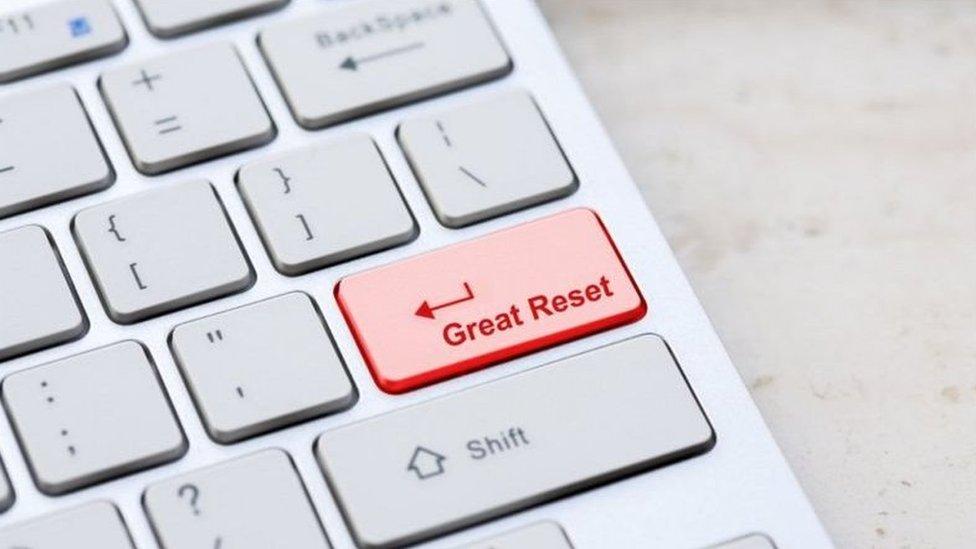 """نظرية المؤامرة التي تحمل اسمGreat reset أو """"إعادة الضبط الشامل"""" انتشرت على وسائل التواصل الاجتماعي على نطاق واسع"""