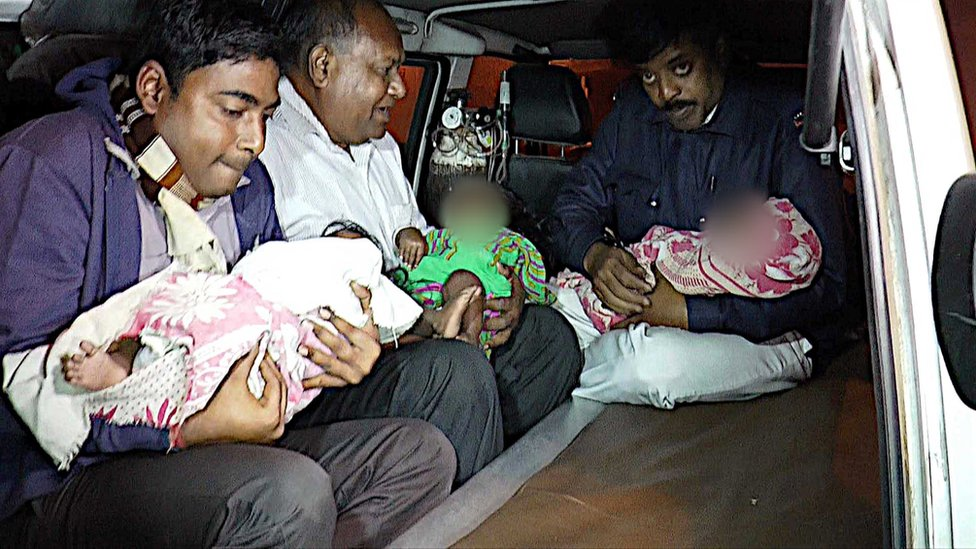 Ten babies were recovered from a home for the mentally ill in Kolkata