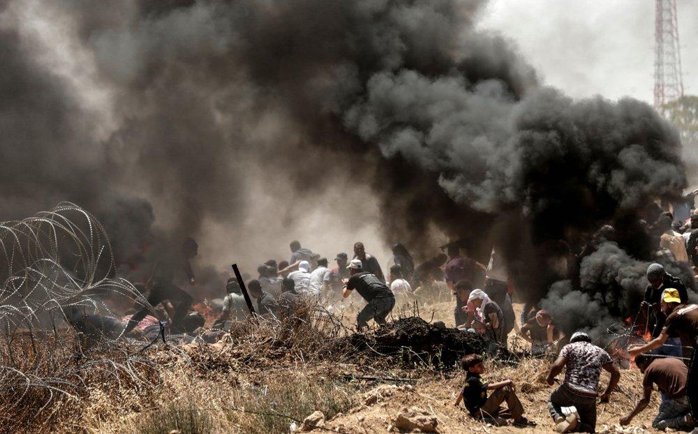 Enfrentamientos en la frontera con Gaza