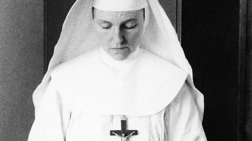 A nun in Katanga, former Belgian Congo, 30 June 1960.