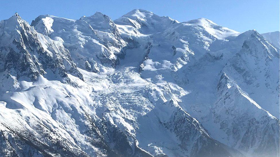 The Mont Blanc near Chamonix, France, 25 February 2018