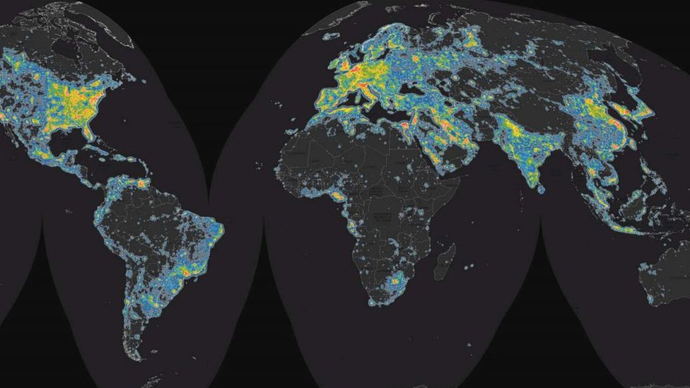 Global map of brightness