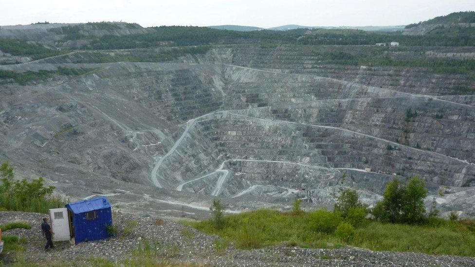 Una vista de la mina Jeffrey
