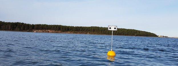 Testing the water at a lake