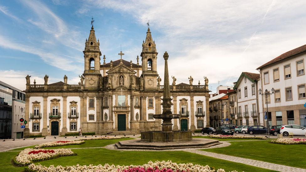 El antiguo Hospital São Marcos en Braga, Portugal