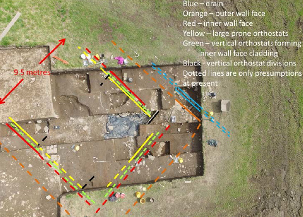Aerial view of the structure